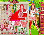 Sweet Strawberry Girl Dress Up
